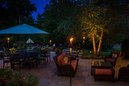 View larger photo of: Backyard Lighting Far Hills