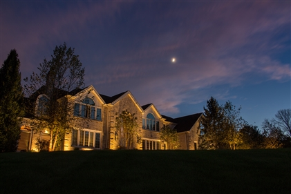 View larger photo of: Architectural uplighting on home NJ