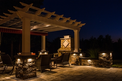 View larger photo of: Pergola NJ undercap lights