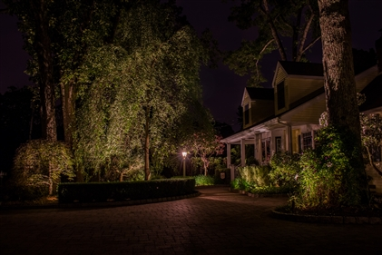 View larger photo of: Front landscape and architectural lighting NJ