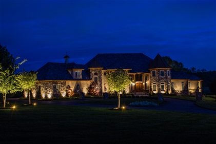 View larger photo of: Outdoor architectural uplighting Skillman NJ