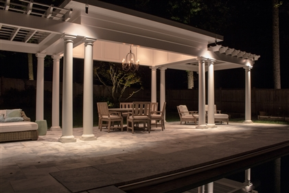 View larger photo of: Pergola downlights core drill uplights