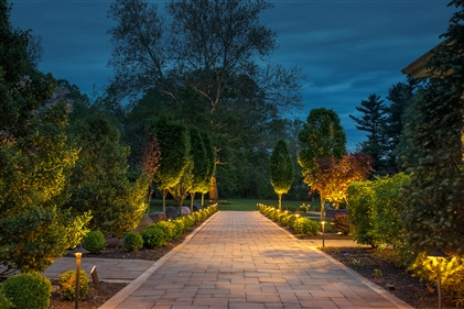 View larger photo of: Outdoor wedding venue lighting NJ