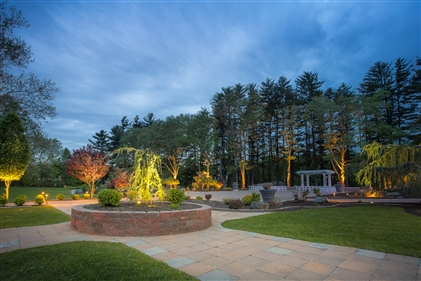 View larger photo of: Outdoor lighting for NJ commercial wedding venue