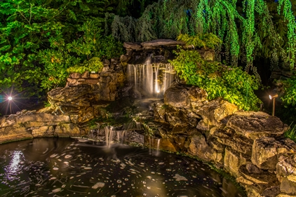 View larger photo of: Waterfall lighting