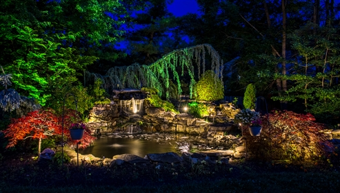 View larger photo of: Low voltage waterfall lighting 3